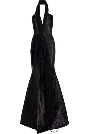 MATICEVSKI Significant halterneck gown