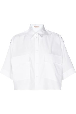 Alaïa Cropped cotton shirt