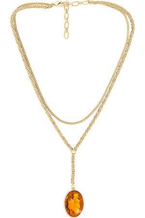 Amber Sceats Lariat Pendant Necklace in Metallic .