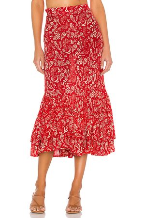 coolchange Florence Meadow Skirt in Red.