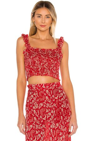coolchange Daria Meadow Top in Red.