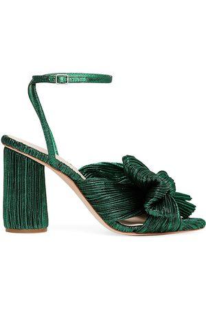 Loeffler Randall Women's Camellia Knotted Lamé Sandals - - Size 11
