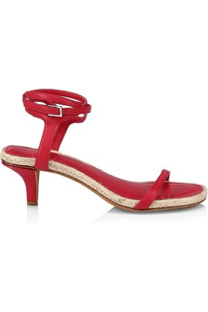 3.1 Phillip Lim Women's Yasmine Ankle-Strap Leather Espadrille Sandals - - Size 40 (10)