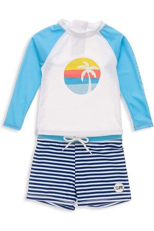 Snapper Rock Baby's & Little Boy's 2-Piece Sunset Stripe Long-Sleeve Set - - Size 6-12 Months