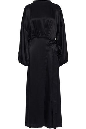 Rodebjer Woman Indio Wrap-effect Satin Midi Dress Size L