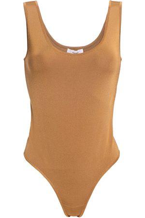 CASASOLA Women Bodies - Woman Rio Stretch-knit Thong Bodysuit Camel Size 36