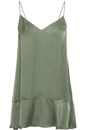 American Vintage Women Camisoles - Woman Akining Asymmetric Washed-cupro Camisole Grey Size L