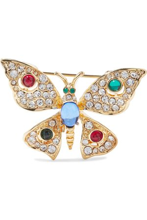Kenneth Jay Lane Women Jewelry - Woman Gold-tone Crystal And Resin Brooch Size