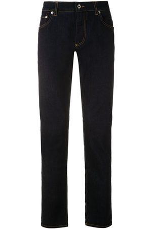 Dolce & Gabbana Men Bootcut - Logo patch bootcut jeans