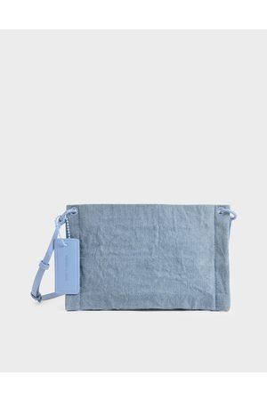 CHARLES & KEITH Textured Zip Clutch