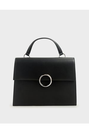 CHARLES & KEITH Ring Detail Large Top Handle Bag