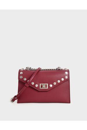 CHARLES & KEITH Studded Crossbody Bag