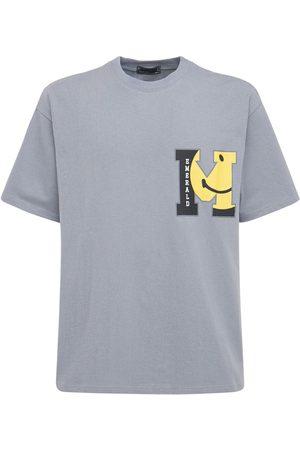 MAISON EMERALD Logo Print Cotton T-shirt