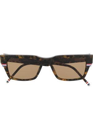 Thom Browne Sunglasses - Wrap-around rectangle sunglasses