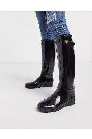 Hunter Original Refined tall wellington boots in gloss