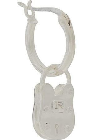 TRUE ROCKS Men Hoop - Single padlock hoop earring