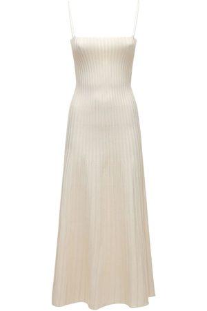 CASASOLA Viscose Blend Knit Midi Dress