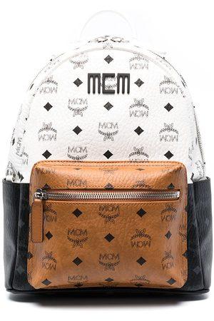 MCM Logo-print tricolour backpack