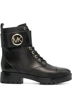 Michael Kors Tatum leather combat boots