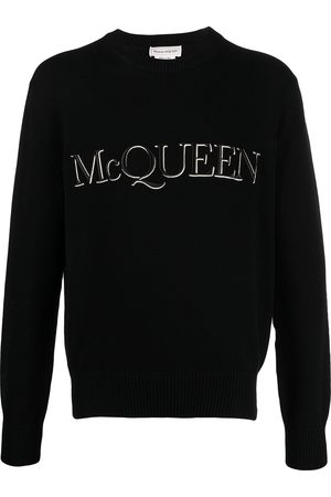 Alexander McQueen Logo-embroidered knitted jumper