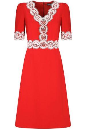 Dolce & Gabbana Lace-embellished V-neck dress