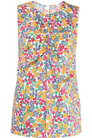 Marni Pop Garden-print puckered top