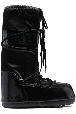 Moon Boot Men Snow Boots - Icon Glance satin snow boots