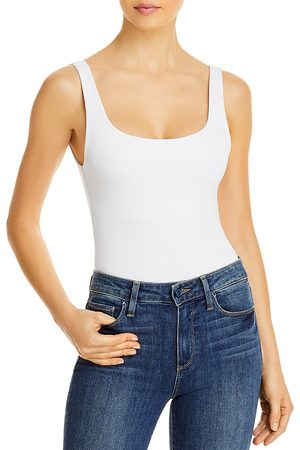 GOOD AMERICAN Square Neck Tank Bodysuit