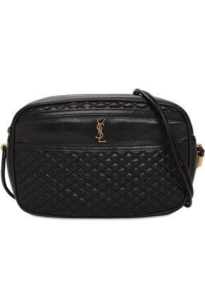 Saint Laurent Ysl Vintage Quilted Leather Camera Bag