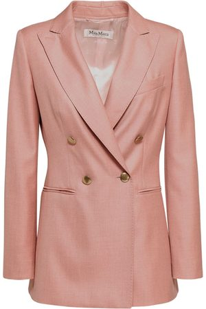 Max Mara Double Breast Camel & Silk Blazer