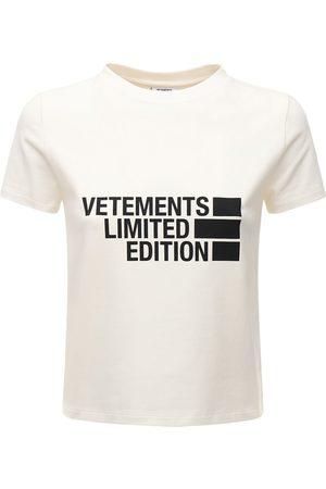 Vetements Big Logo Cotton Jersey T-shirt