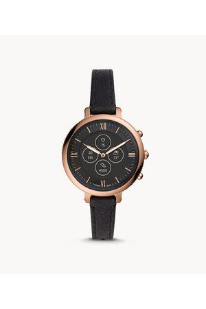 Brands Fossil Women's Hybrid Smartwatch Hr Monroe Leather