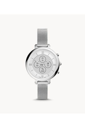 Womens Women Smart Watches - Fossil Women's Hybrid Smartwatch Hr Monroe Stainless Steel