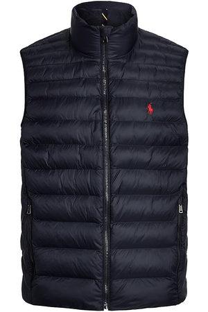 Polo Ralph Lauren Men's Terra Packable Rain-Repellent Puffer Vest - Collection Navy - Size Large