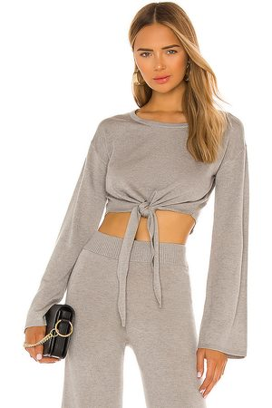 Song of Style Louisa Sweater in Taupe.