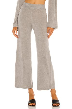 Song of Style Louisa Knit Pant in Taupe.