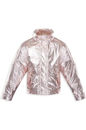 Moncler Little Girl's & Girl's Klarise Metallic Jacket - - Size 10
