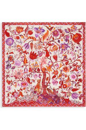 Salvatore Ferragamo Women's Animalier Tree of Life Printed Silk Scarf