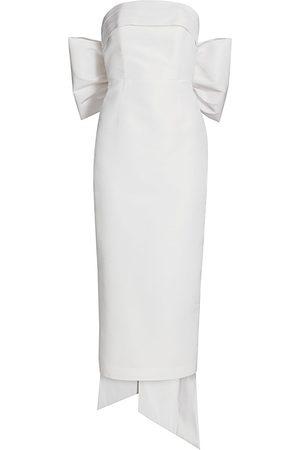 Alexia Maria Women's Margaret Bow Silk Dress - - Size 6
