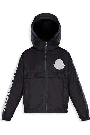 Moncler Little Kid's & Kid's Saxophone Graphic Logo Hooded Windbreaker - - Size 12