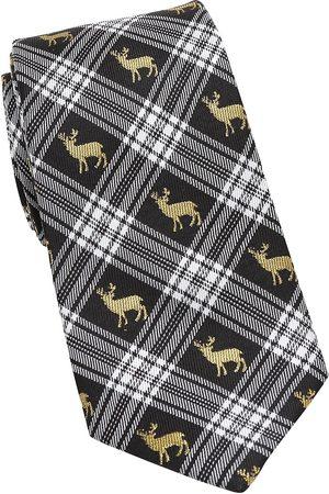 Cufflinks, Inc. Men's Plaid Stag Silk Tie