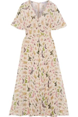 RED Valentino Woman Printed Silk-georgette Midi Dress Pastel Size 38