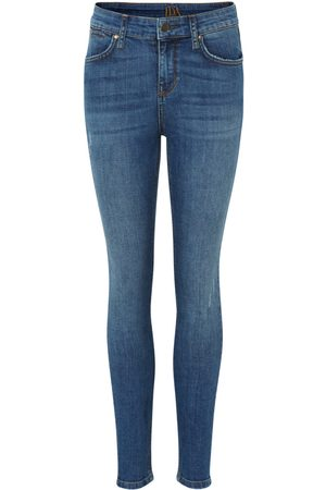 DONNA IDA Women High Waisted - Rizzo High Top Ankle Skinny Jeans - Road Tripping