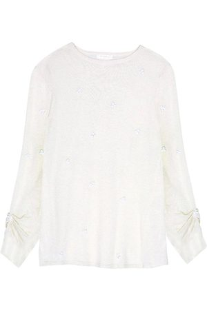 Intropia Embroidered Bead Sweater