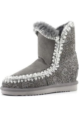 Mou Grey Inner Wedge Short Lasered Boot