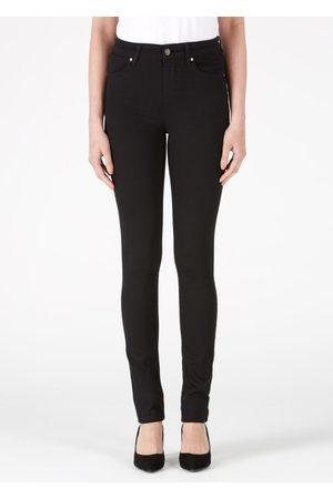 DONNA IDA Jeanie Full Length Cigarette Jeans - Blackest