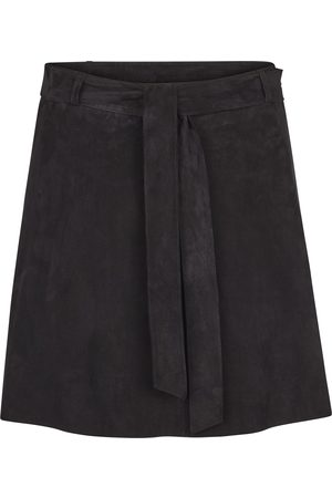 Second Female Women Leather Skirts - Rut Wide Suede Skirt