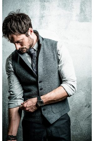 PHIL PETTER Grey Wool Waistcoat 60610