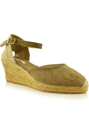 Toni Pons Women Wedge Sandals - Lloret-5 Suede Wedge Espadrille In Taupe