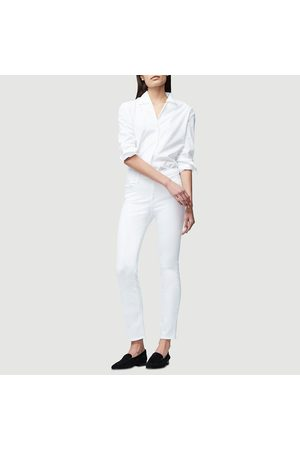 Frame Le High Straight Jean - White
